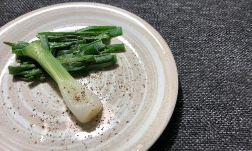 【収穫して料理】丸ごと葉玉ねぎを食す!